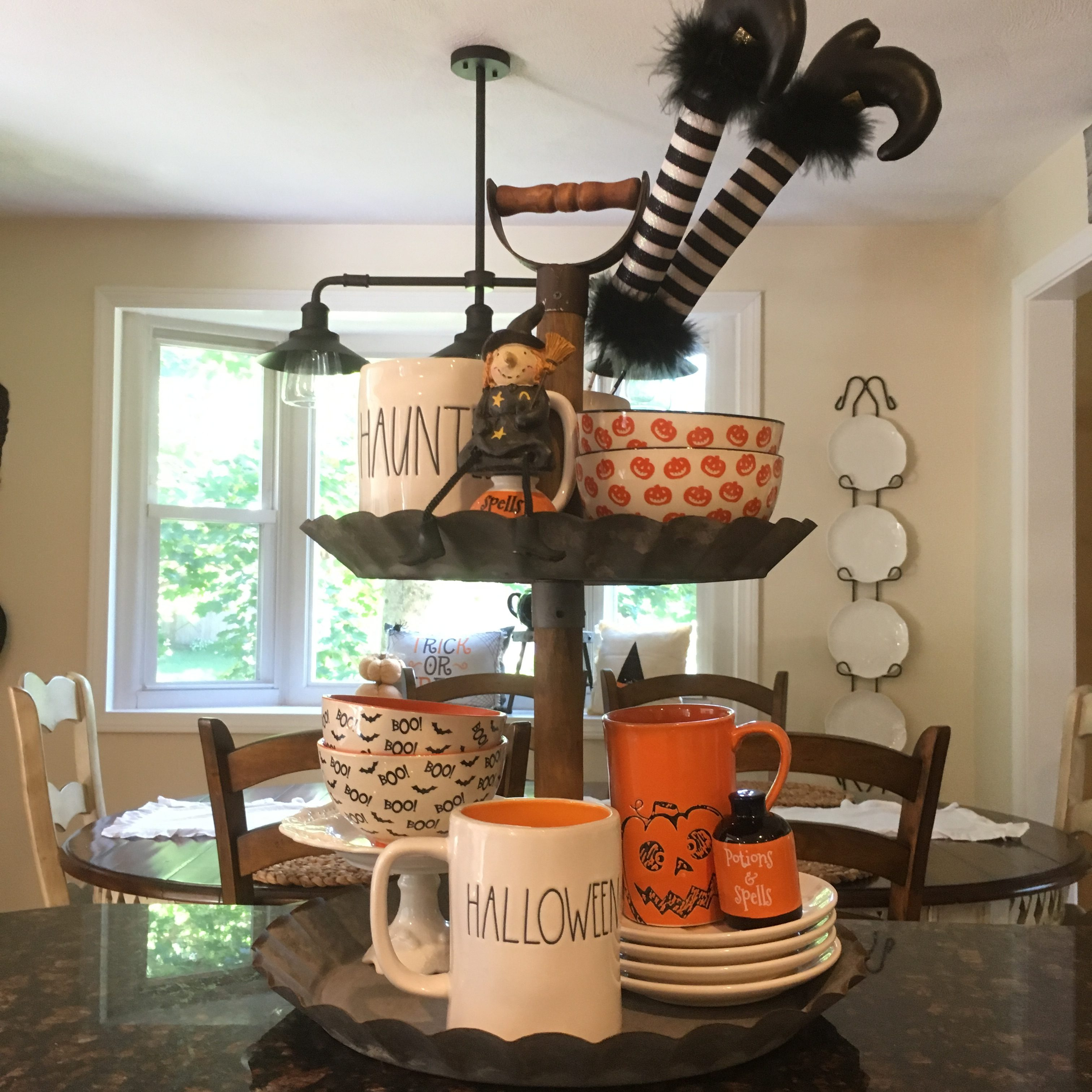 Adventures In Decorating Our 2015 Fall Kitchen: My Rae Dunn Halloween & Fall Decor Adventure